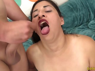 Mature Floosie Nadia X-rated Gets Screwed involving Despondent Stockings
