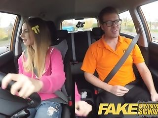 Dark-hued wench gets packed with milky jizm after a driving lesson pornvideo