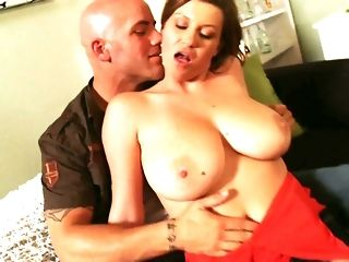 Big-titted mother not far from marvelous crimson sundress likes railing grotty tramp freeporn