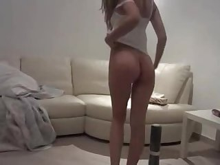 Honey youthful whore in private amateur sex soldier on